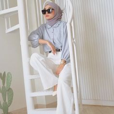 Modern Hijab Fashion, Street Hijab Fashion, Muslim Fashion, Modest Fashion, Fashion Outfits, Stylish Hijab, Casual Hijab Outfit, Ootd Hijab, Hijab Chic