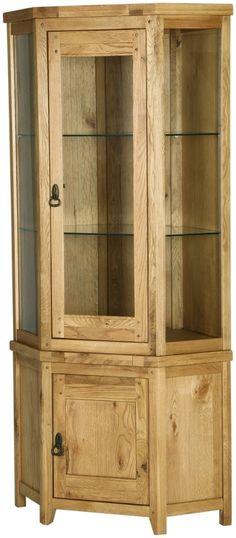 branches of bristol vienna rustic oak corner display cabinet perfect corner unit Solid Oak Sideboard, Small Sideboard, Corner Display Unit, Corner Unit, Cabinet Door Styles, Cabinet Doors, Kitchen Display Cabinet, Display Cabinets, Solid Oak Furniture