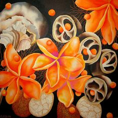 Elizabeth Elequin.  Elegant plant forms.