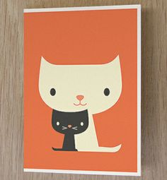 Black&White Cats::Greeting Card