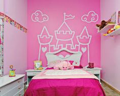 DORMITORIOS DE BEBES NIÑA Y NIÑO via www.dormitoriosnenes.blogspot.com Baby Bedroom, Girls Bedroom, Buy My House, Kawaii Room, Princess Room, Little Girl Rooms, New Room, Kids Decor, Decoration