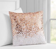 Sequin Rose Gold Pillow