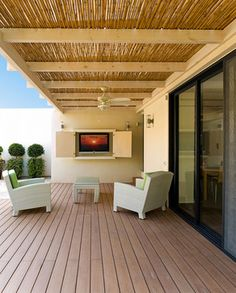 Bamboo #patio ceiling covering - www.skylarshomeandpatio.com