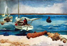 Harbor Scene, Nassau by Winslow Homer