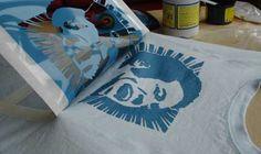 stencil art printing t-shirts