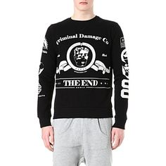 CRIMINAL DAMAGE The End cotton-blend sweatshirt (Black