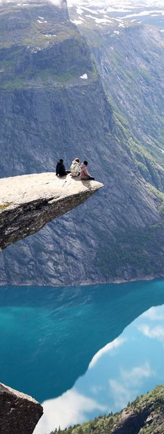 Stand on the edge. Trolltunga, Norway.