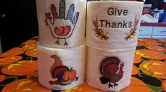 More embroidered toilet paper, this time for thanksgiving