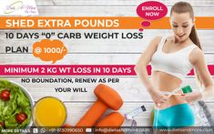 """#WeightLoss Special Offer at just Rs. 1000/-  Want to shed extra pounds? Participate in our """"0"""" Carbs Challenge.  Loose minimum 2 KG in just 10 days  Interested person call or whatsapp at: +91-8130990650 Or Email: info@dietsandmore.co.in Weight Loss Diet Plan, Weight Loss Plans, Proper Diet, 10 Days, Shed, Challenges, How To Plan, Diet Plans, Barns"""