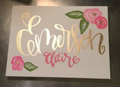A personal favorite from my Etsy shop https://www.etsy.com/listing/264853645/custom-baby-nursery-name-wall-art