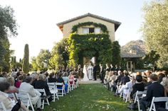 Private vineyard ceremony in Napa... would to replace this kind of feel in Tuscany, or you know, perhaps the south of France! #wedding #destination #venue