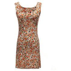 BG-impression Little Flower Round Collar Sleeveless Dress