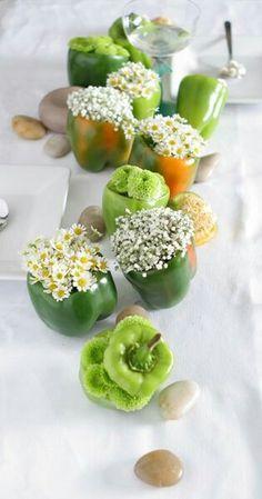 Green Peppers Spring Centerpiece centerpieces spring 20 Fresh Spring Centerpiece Ideas To Celebrate The Season