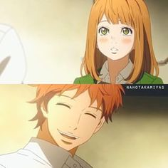 Although Suwa felt sad, he smiled at Naho...