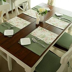 Set di 4 French Country Style Placemates