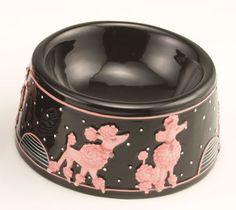 poodle dishes | Poodle pet dish - large Poodle pet dish - small Poodle round plate ...