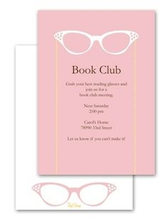 Book Club Party Invite for #EccoDomaniCelebration