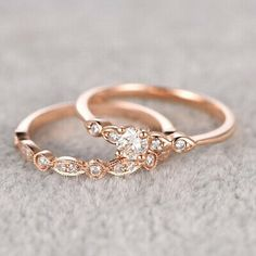 Moonstone engagement ring set Rose gold Diamond cluster ring Unique engagement ring vintage Curved wedding women Bridal Promise gift for her Description: - Vintage style Opal and diamond ring - Natural Conflict free diamonds. Wedding Rings Rose Gold, Rose Gold Engagement Ring, Bridal Rings, Engagement Ring Settings, Wedding Bands, Gold Rings, Rose Gold Bands, Oval Engagement, Morganite Engagement
