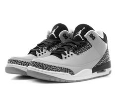 """NEW Men's Air Jordan III """"Wolf Grey"""" Silver Black White 136064-004 Cement SZ 9.5 #Clothing, Shoes & Accessories:Men's Shoes:Athletic #socialmatic05 $250.00"""