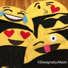 Sneak peek at this season's 🔥 request. Great for group and family costumes. See infant emoji costumes too. #besthatsever #halloweenhats  #emoji #emojisistillneed