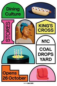 A closer look at identity for Coal Drops Yard Web Design, Book Design, Layout Design, Print Design, Cover Design, Identity Design, Visual Identity, Identity Branding, Kids Branding