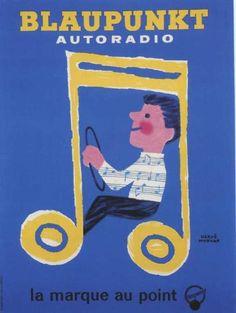 illustration de MORVAN Hervé - Autoradio Blaupunkt - 1964 -