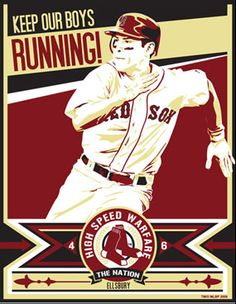 "Jacoby Ellsbury of the Boston Red Sox in ""Keep Our Boys Running"" by Chris Speakman."