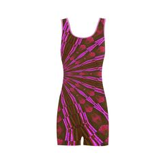 Razzberry Swirl Classic One Piece Swimwear