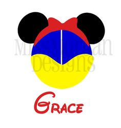 Personalized Princess Snow White Mouse Disney iron on decal vinyl for shirt.  Simple and cute.