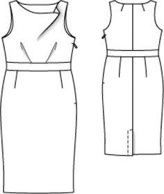 Платье: Burda 2/ 2013/ 144 / Burdastyle