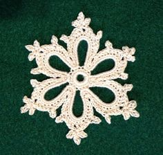 Ravelry: Irish Crochet Snowflake by Courtney Brock... Free pattern!