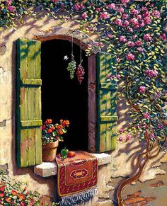 Artist Bob Pejman's Selected Works since Pejman's works span from Classical Realism and Romantic Realism to his current looser style Classical oils Classical Realism, Open Window, Window Ledge, Mail Art, Painting Inspiration, Tuscany, Painting & Drawing, Landscape Paintings, Watercolor Art