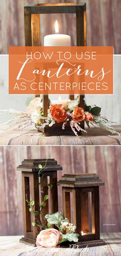 This wood lantern centerpiece makes an incredible accent for your wedding tables.), these decorative lanterns can add. Lantern Centerpiece Wedding, Unique Centerpieces, Wedding Lanterns, Wedding Table Centerpieces, Flower Centerpieces, Wedding Decorations, Wedding Ideas, Wedding Tables, Centerpiece Ideas