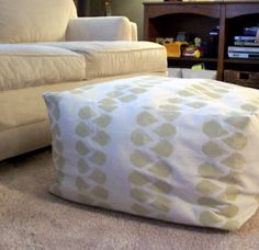DIY Square Pouf