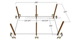 This step by step diy woodworking project is about how to build a flat roof carport. Learn how to make a carport with a flat roof out of wood. Diy Carport, 2 Car Carport, Carport Plans, Pergola Plans, Diy Pergola, Carport Kits, Carport Ideas, Backyard Gazebo, Outdoor Pergola