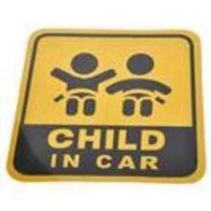 "Sticker réfléchissant ""child in car""(x4)"