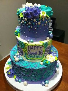 Sweet little buttercream cake by the white flower cake shoppe sweet sixteen mightylinksfo Image collections