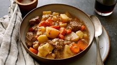 This classic stick-to-your-ribs stew is the ideal project for a chilly weekend Beef, onion, carrots, potatoes and red wine come together in cozy harmony If you are feeding a crowd, good news: It doubles (or triples) beautifully.