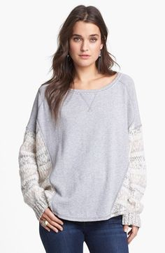 Free People 'Beautiful Sinner' Heavyweight Pullover available at #Nordstrom. I NEEEEEEEED THIS!!!