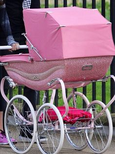 Baby girl nursery ideas. Beautiful Pink silver cross balmoral pram!. I love silver cross coach built prams anyway but this is PINK and encrusted with Swarovski CRYSTALS! Love ❤️love ❤️love ❤️!