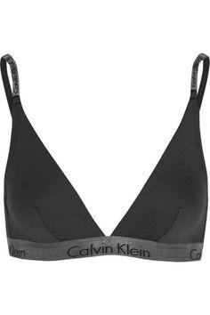 Calvin Klein Underwear | Stretch-jersey soft-cup triangle bra | NET-A-PORTER.COM