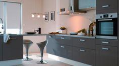 Element Cuisine Gris Meuble Cuisine Blanc Et Gris Kitchen Cabinets, Table, Furniture, Configuration, Home Decor, Construction, Google, Design, Kitchen Planning