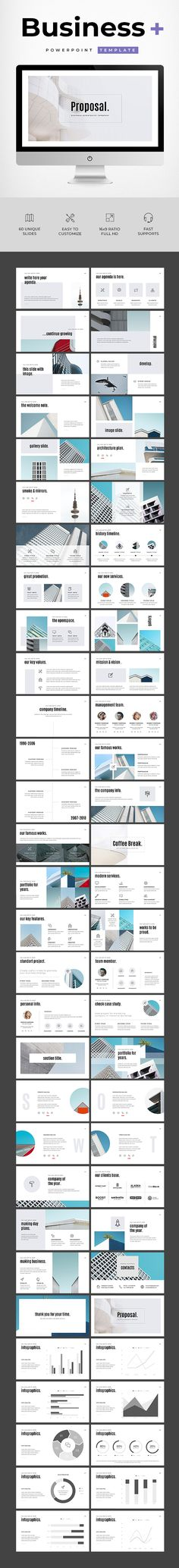 Business Powerpoint Template - 60 Unique Slides