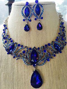 Fabulous Cobalt Royal Blue Statement Bib by OurWanderingHearts