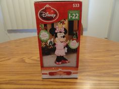 Christmas Disney 5 ft Minnie Mouse Dressed in Pink Light Up Airblown Inflatable #Disney