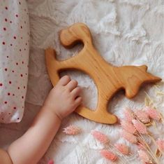 Natural wooden toys and wooden plates for kids by WanderwoodCo Wooden Animals, Wooden Toys, 1 Year Old Christmas Gifts, Rocking Unicorn, Wood Toys Plans, Baby Shower Presents, Wooden Plates, Lovely Shop, Montessori Toys