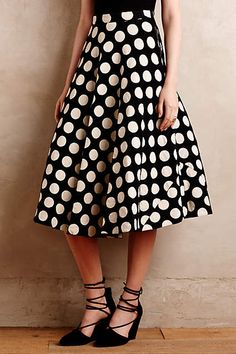 Dotted Party Skirt - anthropologie.com