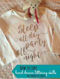 How to Fake Hand Drawn Lettering Skills in Silhouette Studio ~ Silhouette School