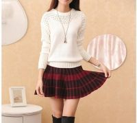 Cheapest Fashion Han Edition Round Collar Hollow Out Long Sleeve Knit First Cultivate One's Morality White