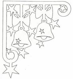 Line drawings Xmas bells Christmas Paper, Christmas Colors, Christmas Projects, Christmas And New Year, Christmas Time, Christmas Ornaments, Christmas Templates, Christmas Printables, Kirigami